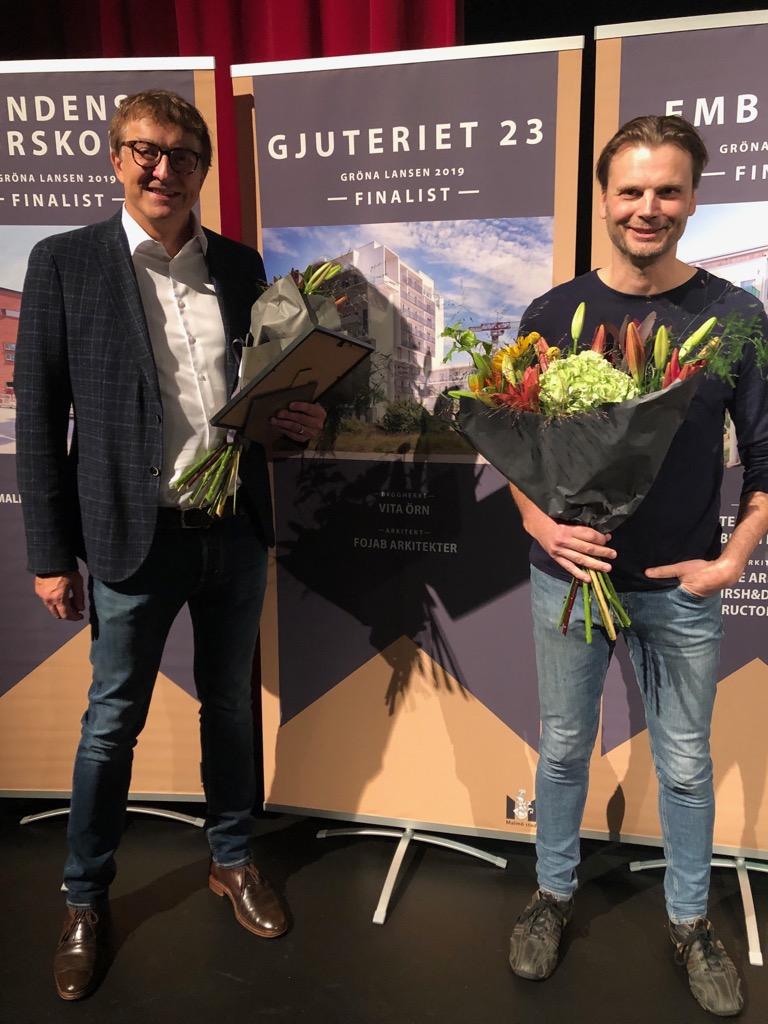 """Vita Örn vann Stadsbyggnadspriset """"Gröna Lansen"""" 2019"""